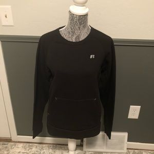 Russell Black Sweatshirt with Front Pocket